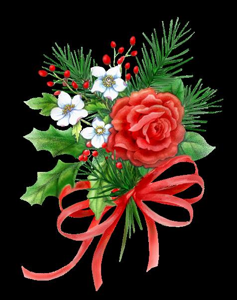 """décorations de Noël """"fleurs"""""""